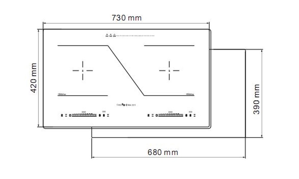 BẾP TỪ FANDI FD- SLIDE 223I - Siêu thị Nhà bếp Đức Thành